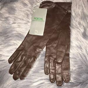 ROECKL DER HANDSCHUH Brown Gloves